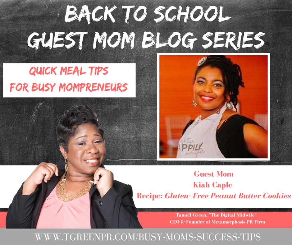 """Hey Moms! It's BACK TO SCHOOL TIME!!! That means so many things for families, but we want to highlight one of those and that is QUICK & EASY recipes for busy Mompreneurs. Often times, busy doesn't always mean productive, but with a bit of help and organization, we become busy, BUT PRODUCTIVE Mompreneurs. To help me do this, I have enlisted the help of some very enthusiastic Moms! They have provided their family's favorite quick, easy, & healthy meals!""- Tamell Green"