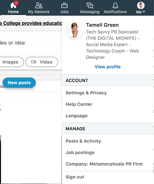 how to add as admin to your company's linked profile