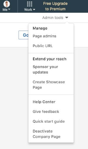 how to add an admin to your company's linkedin profile