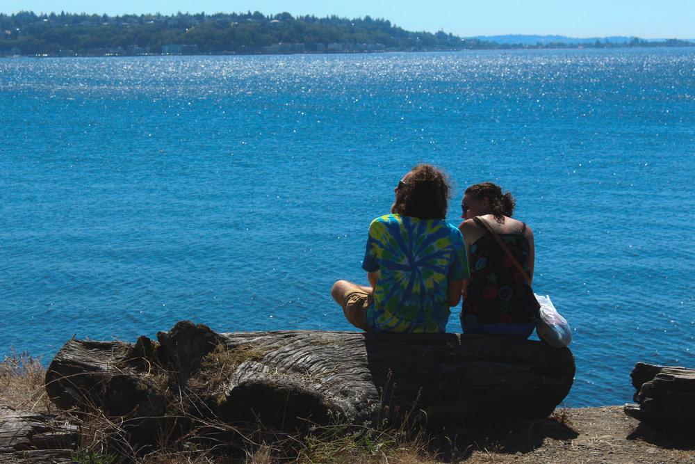 Cute Couple waterfront Myrtle Edwards Hempfest 25th Anniversary.JPG