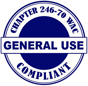 Washington Department of Health General Use cannabis product compliant logo