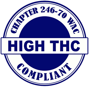 Washington Cannabis Department of Health high THC compliant logo