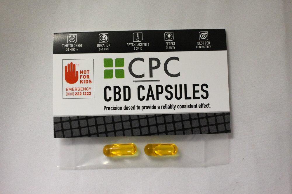 Two Capsules 5mg CBD & 5mg THC each