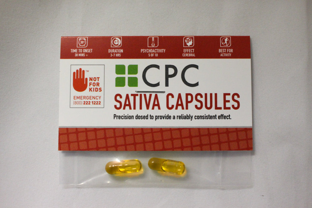 Two Sativa Capsules 5mg THC each