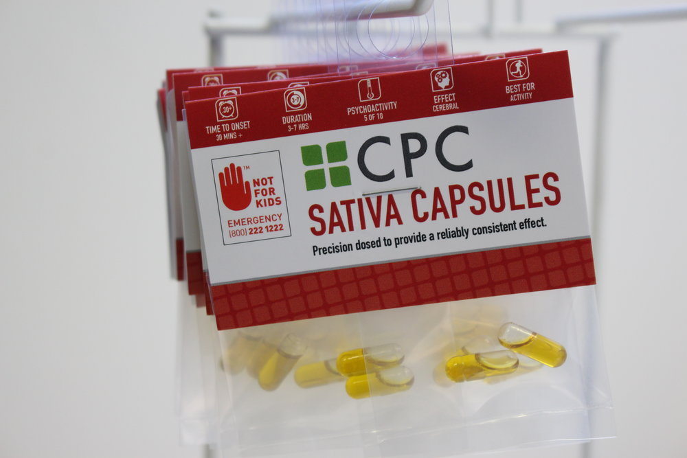 Four Sativa Capsules 5mg THC each