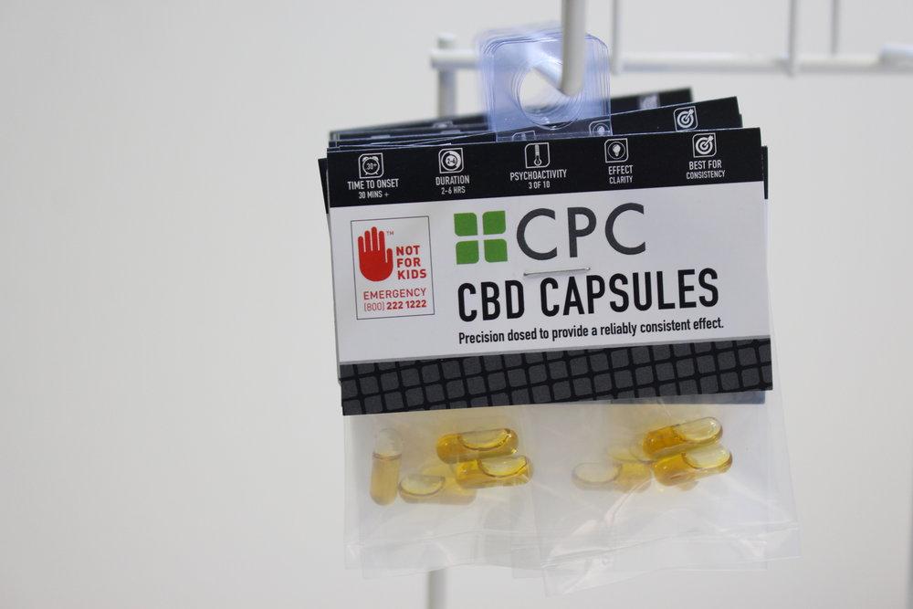 Four Capsules 5mg CBD & 5mg THC each