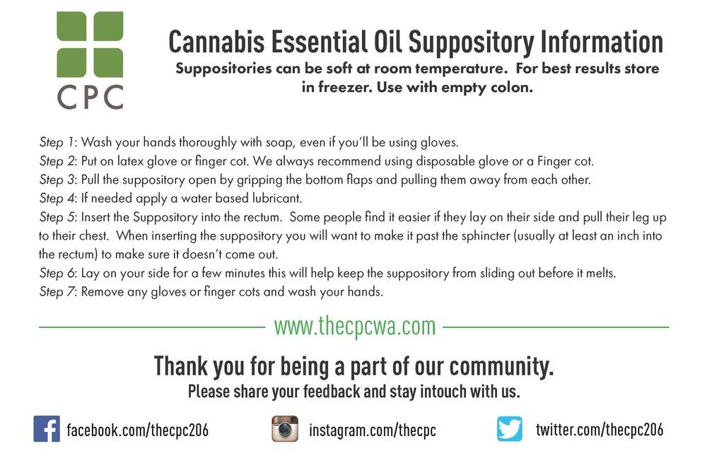 Cannabis Oil Suppository Instructions