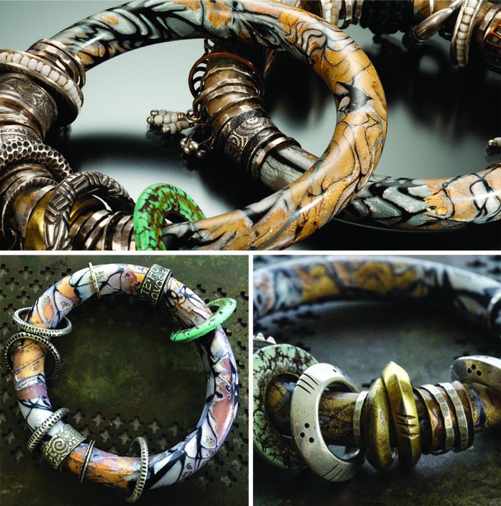 Polymer Mokume Bracelets Collage.jpg
