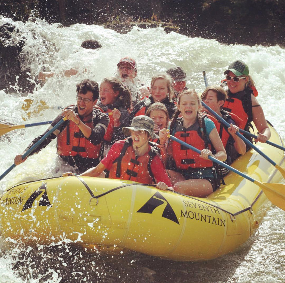 Annual BYC River Rafting adventure with our Middle Schoolers, 2018