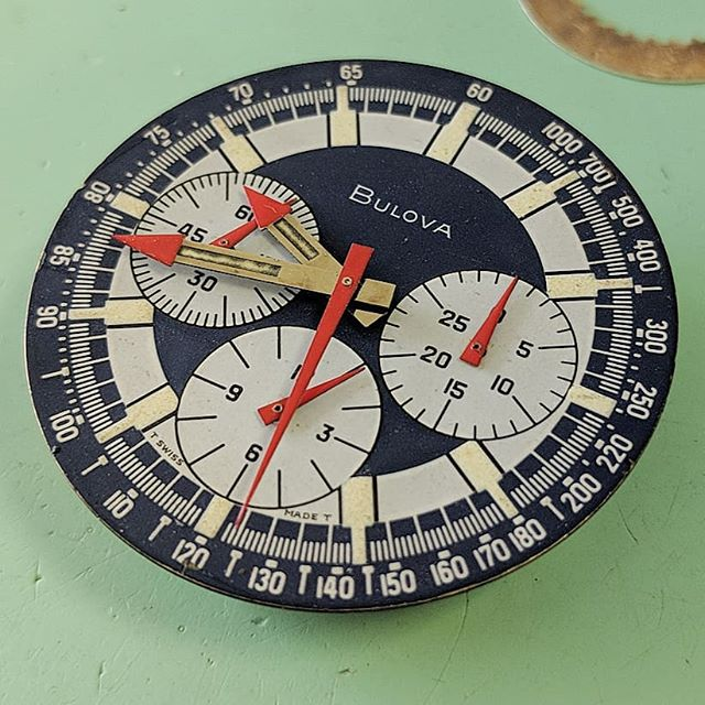 From Jose Sr's personal collection Bulova Stars and Stripes. #artdialwatch #artdialwatchsouthfield #bulova #vintagebulova #bulovastarsandstripes #starsandstripes #vintagewatch #watchservice #watchrepair #horology #horologist #whosyourwatchmaker #watchmovement #watchrepairdetroit #watchrepairmichigan #watchnerd #watchgeek