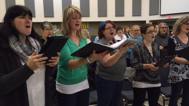 Saskatoon's Joy of Vox choir group has grown to 130 members. (Eric Anderson/CBC)