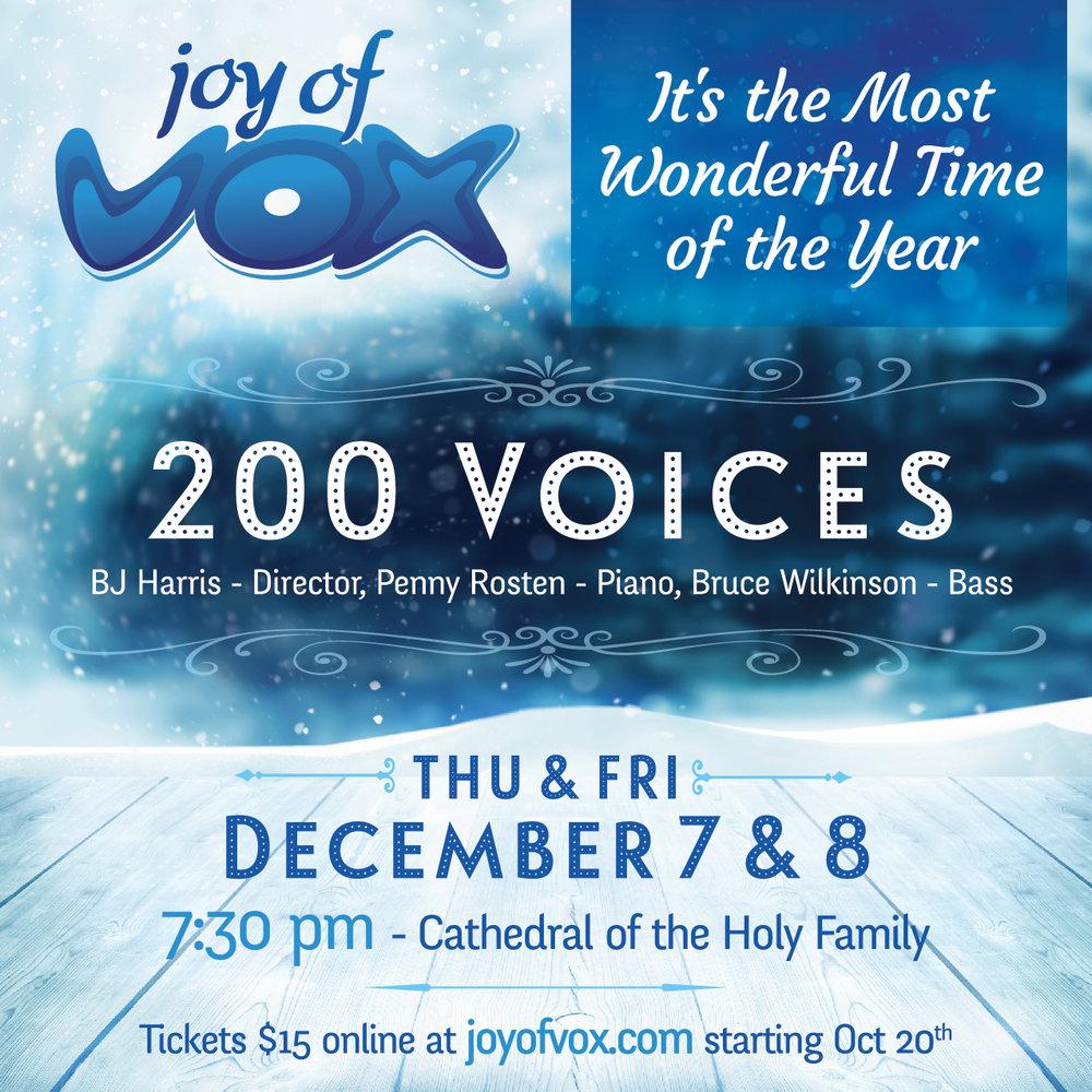 Joy of Vox Winter 2017 Concert