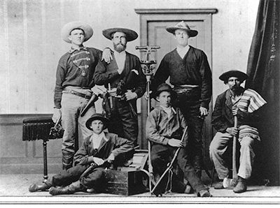 Surveying party. Circa 1876.