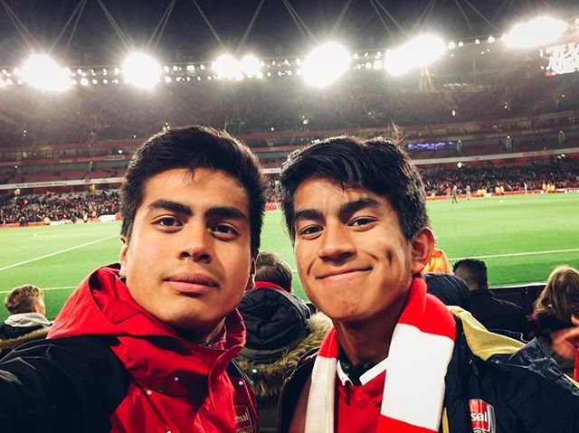 Definitely an experience I'll remember for a long long time. 5th row seats, right at the half, eye level with some of my idols, with the lil bro, seeing our favorite club put on a shoowww #COYG