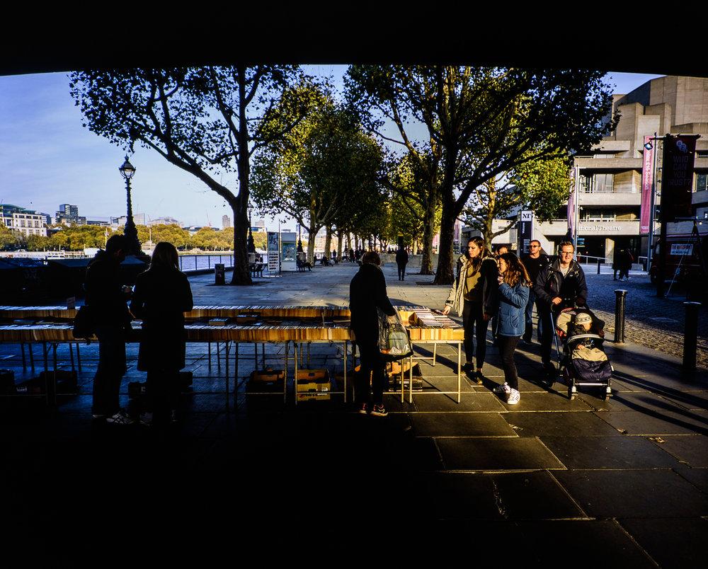 Southbank, London, November 2017 - Mamiya 7ii | 43mm f/4.5 | Fujichrome Provia 100F