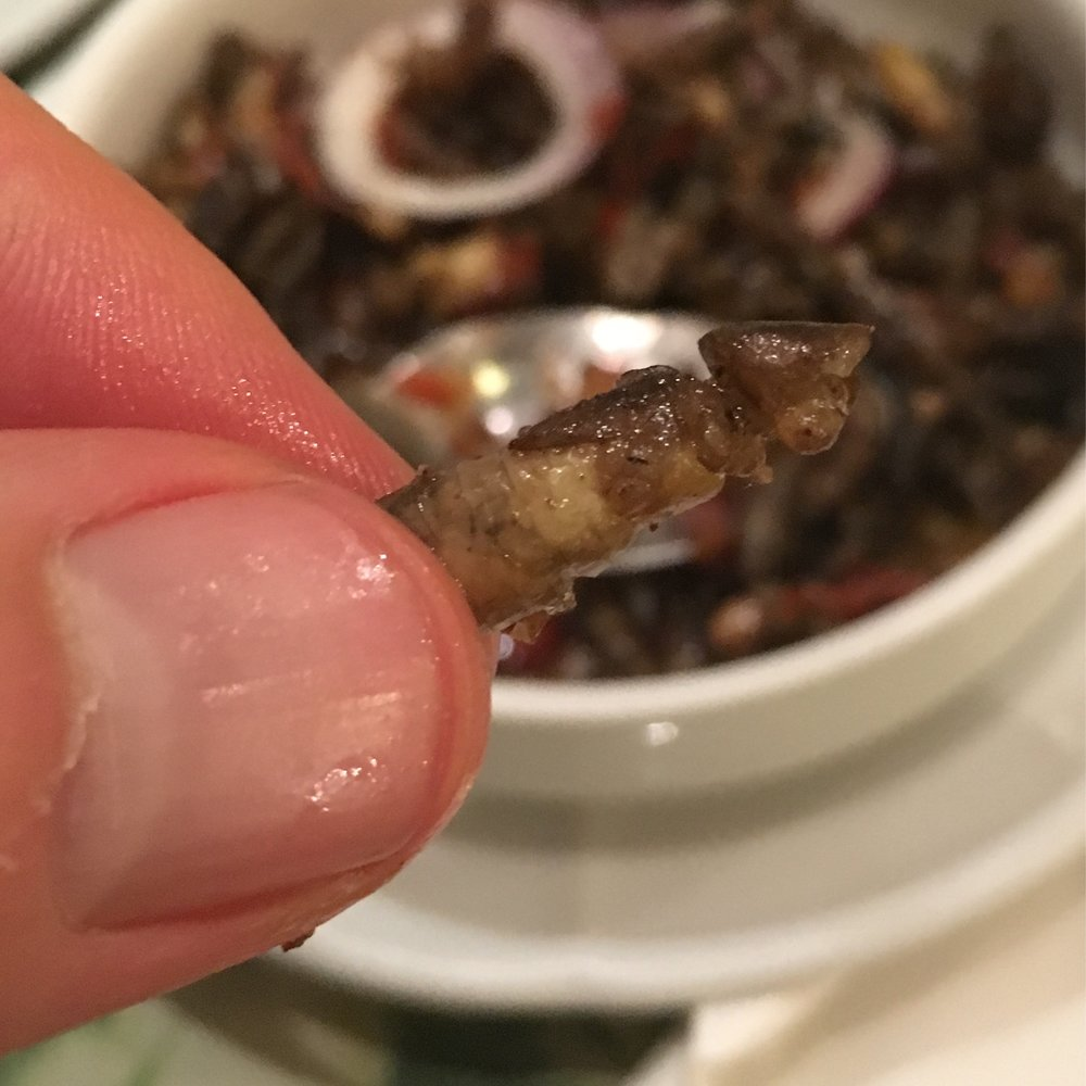 It doesn't look or taste like it, but it's a cricket.