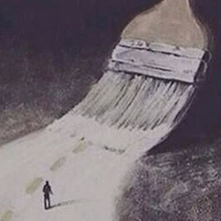 🎨👣 You don't have to follow the paths you're given. Make your own path. #defyconvention #makeadifference #banksy