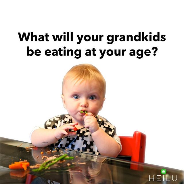 🐄? 🐛? 🌽? ☢️? . Read what 57 leaders in the health food industry predicted their grandkids would be eating on heilufood.com/blog.