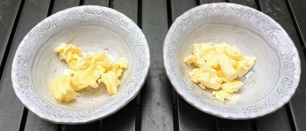 Heilu butter on the left, normal butter on the right.