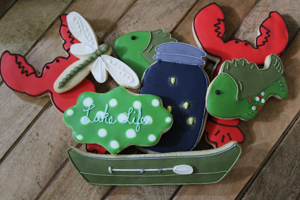 Lake-themed cookies: $20/dozen