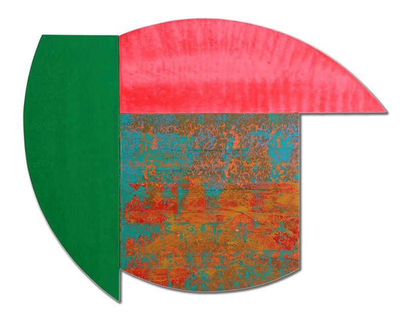 """Multiform 1, 2013, acrylic on panel, 38"""" x 48"""""""