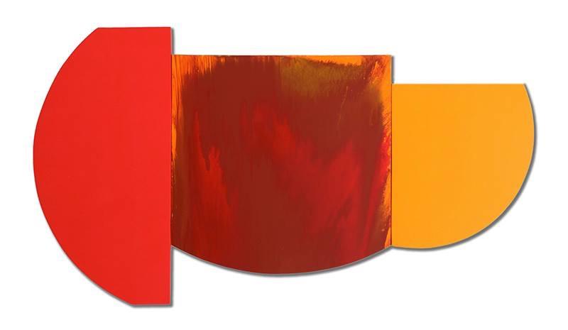 """Multiform 3, 2013, acrylic on panel, 34"""" x 48"""""""