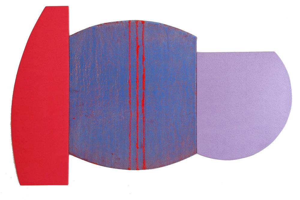 """Multiform 2, 2013, acrylic on panel, 29"""" x 45"""""""