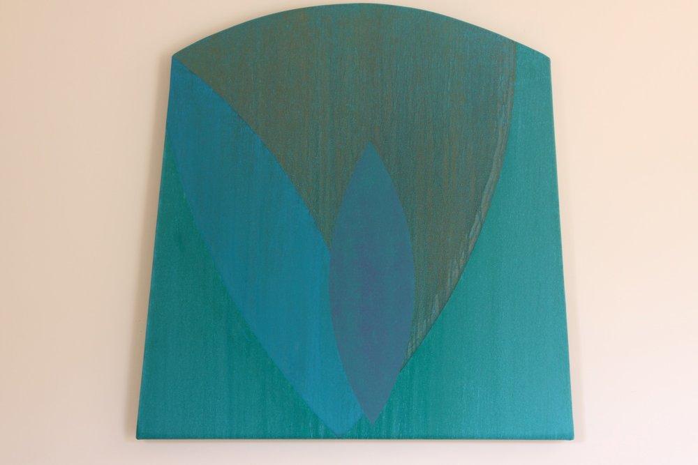 "Untitled (blue/greens), 2007, 33"" x 34"""