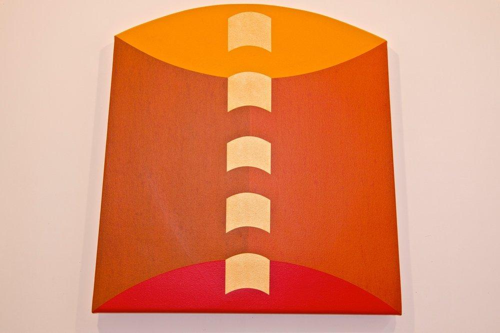 """Pulsar #2, 2011-2012, acrylic on canvas, 32"""" x 32"""""""