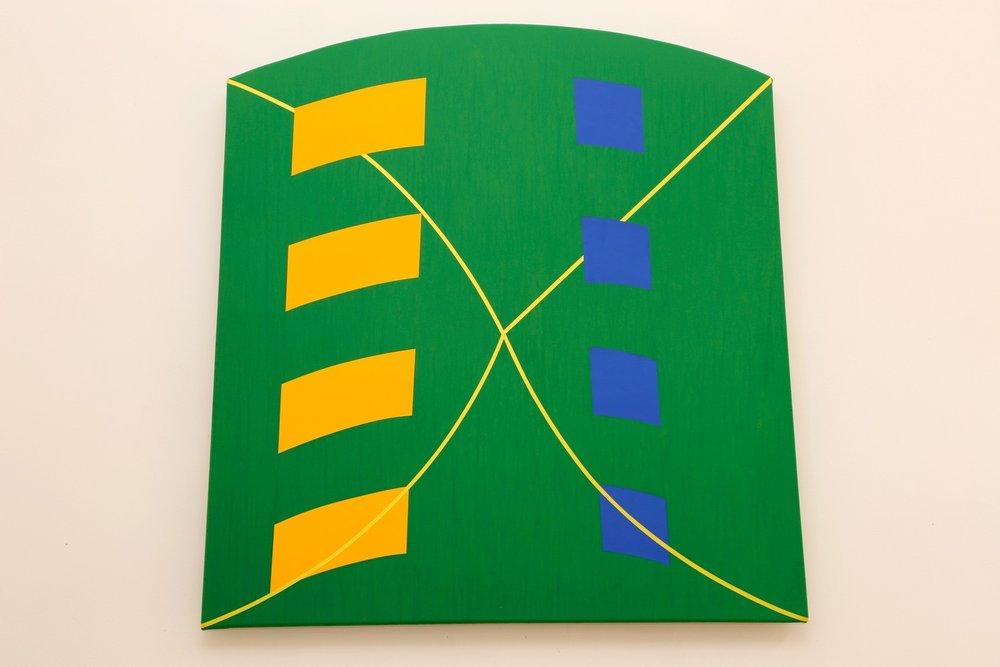 """Pulsar #11, 2012, acrylic on canvas, 41"""" x 41"""""""