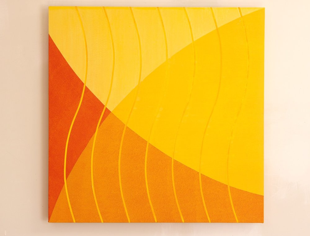 """Untitled (golds), 2009, 32"""" x 32"""""""