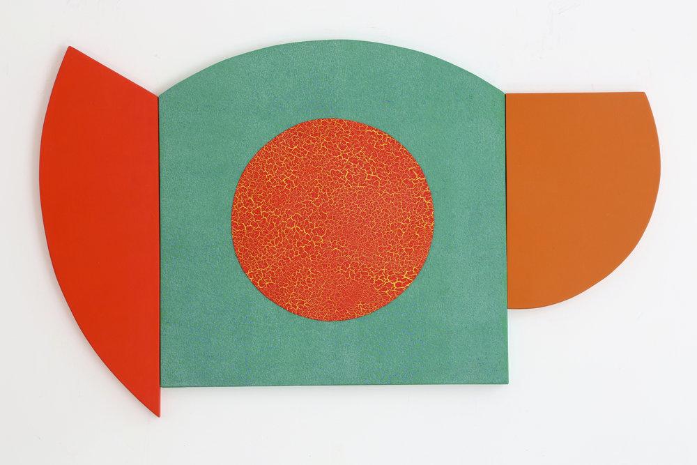 """Multiform 8, 2014, acrylic on panel, 25"""" x 43"""""""