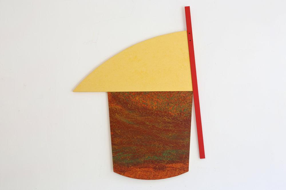 """Multiform 4, 2013, acrylic on panel, 48"""" x 37"""""""