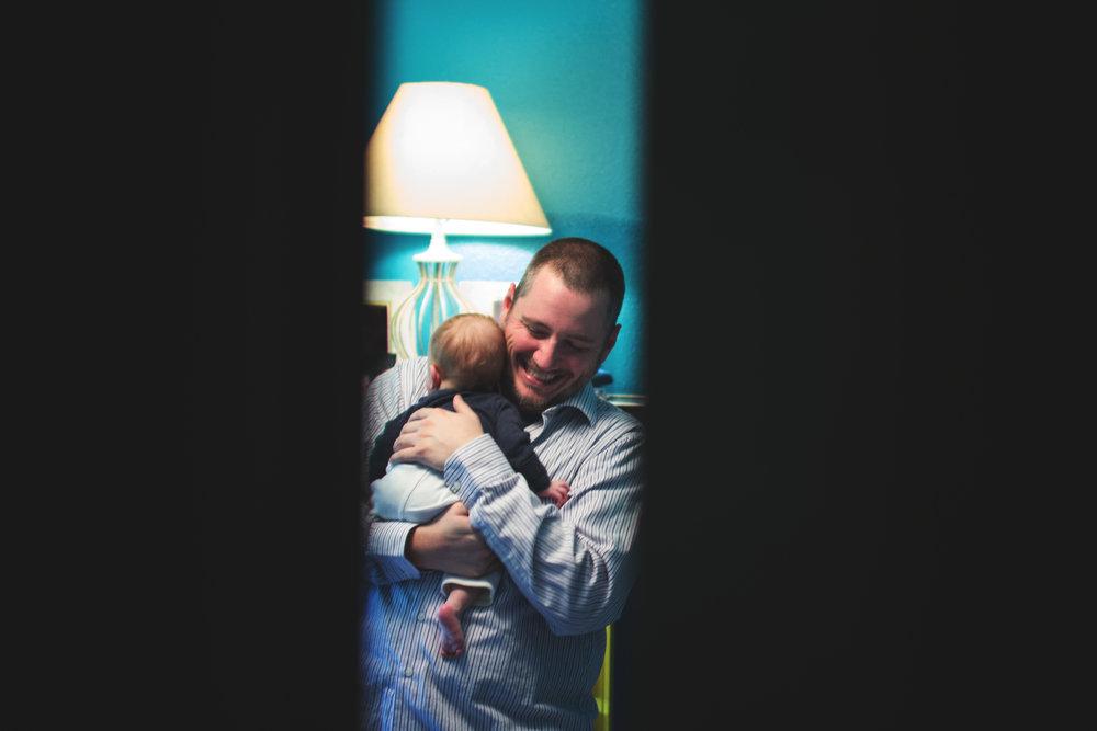newborn baby and dad | Anchorage Newborn Photographer