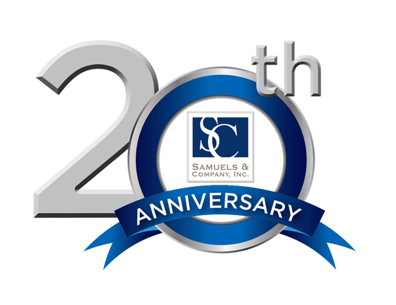 samuels company inc celebrated its 20th anniversary in november