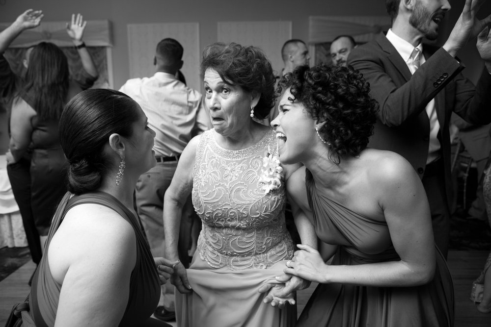 Dancing the night away at my little sister's wedding. -