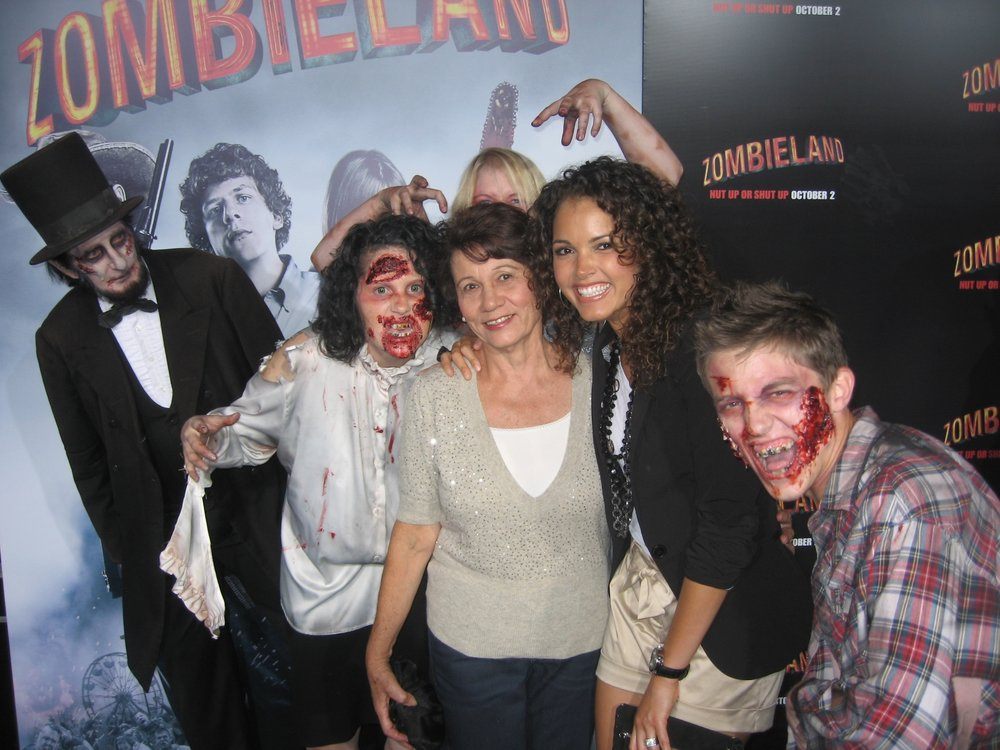 I flew my mom out to Los Angeles and took her to the Zombieland premiere : ) -