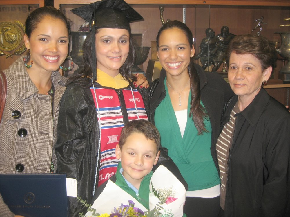 My big sis, Marisele, got her Masters Degree from Salem State. -
