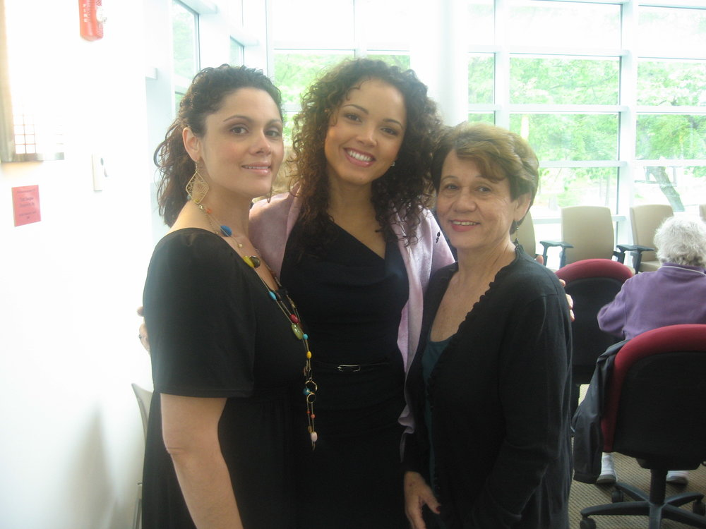 My big sister, Marisele, mom and I during a speaking engagement at my alma matter, Endicott College in Beverly, MA. -