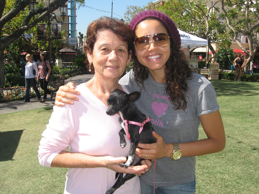 Mom rescued her sweet little Luna from a Los Angeles animal shelter during one of her last visits to see me in CA! Luna was her baby and she took her everywhere! -