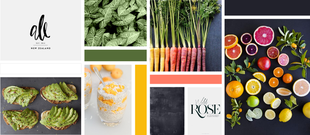 Nourish Live Flow Moodboard | Trout + Taylor www.troutandtaylor.com