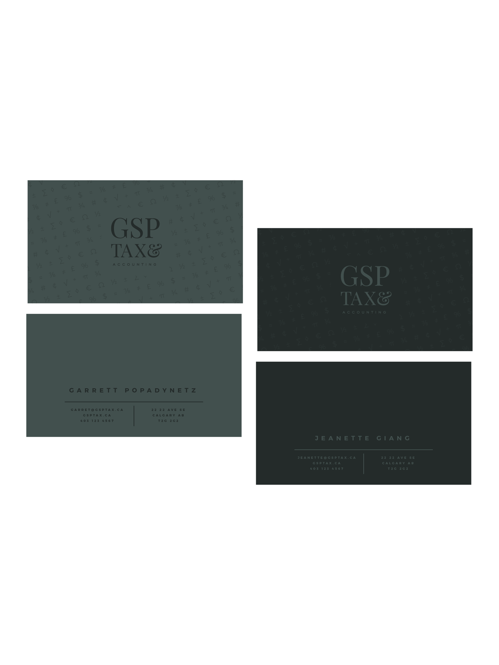 GSP Accounting Logo + Business Card Design | Trout + Taylor www.troutandtaylor.com