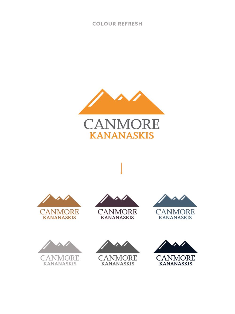 Tourism Canmore Kananaskis Logo | Trout + Taylor www.troutandtaylor.com