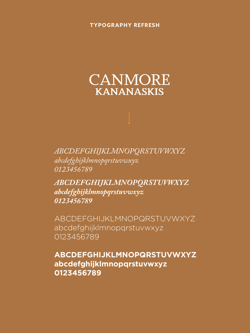 Tourism Canmore Kananaskis Logo + Typography | Trout + Taylor www.troutandtaylor.com