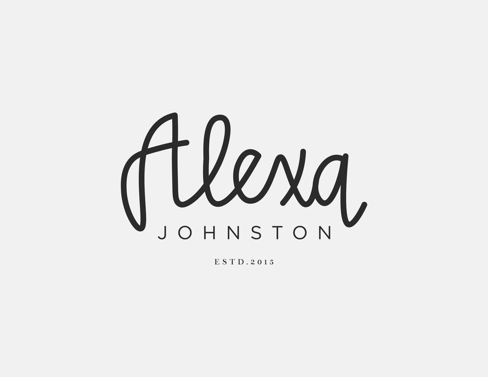 Alexa Johnston Logo Design | Trout + Taylor www.troutandtaylor.com