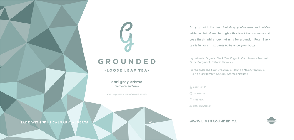 Grounded Tea Logo + Packaging Design | Trout + Taylor www.troutandtaylor.com