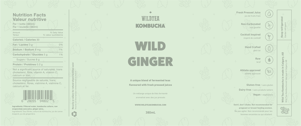 Wild Tea Kombucha Packaging Design | Trout + Taylor www.troutandtaylor.com