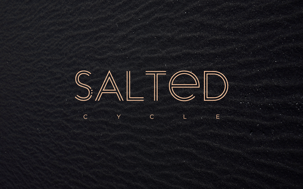 Salted Cycle Logo | Trout + Taylor www.troutandtaylor.com
