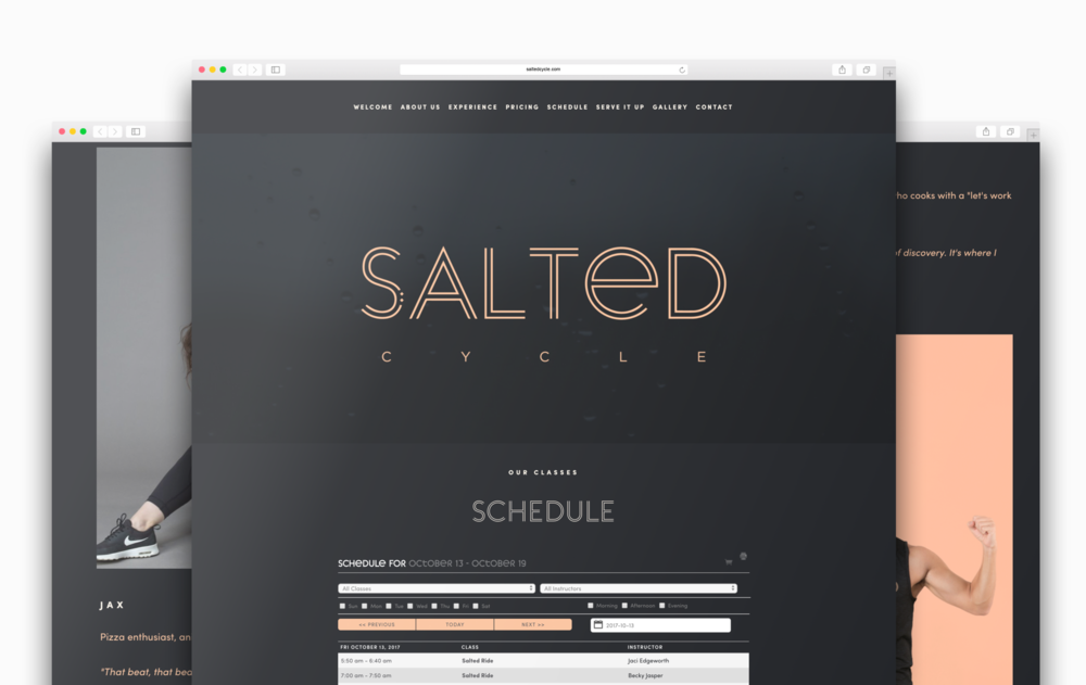 Salted Cycle Web Design + Branding | Trout + Taylor www.troutandtaylor.com