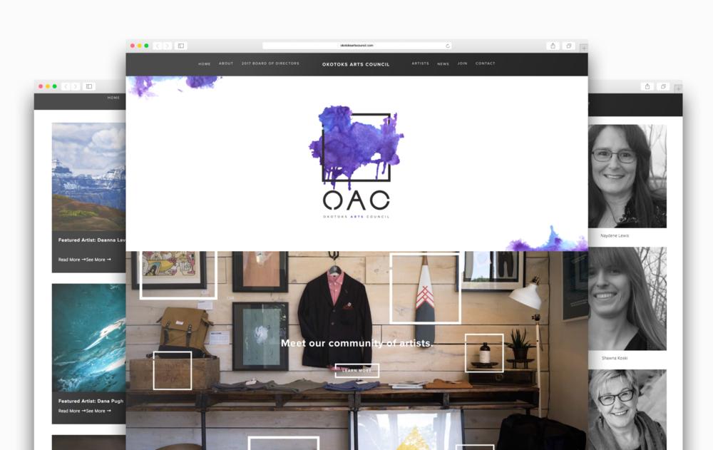Okotoks Art Council Logo + Web Design | Trout + Taylor www.troutandtaylor.com